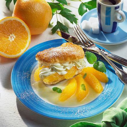 Orangen-Sahne-Schnitten Rezept