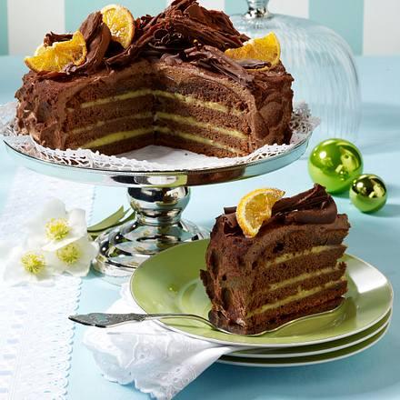 Orangen Schokoladen Torte Rezept Lecker