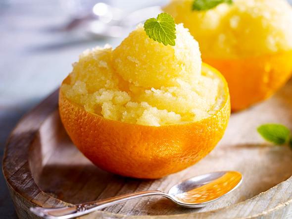 Orangen-Sorbet Rezept