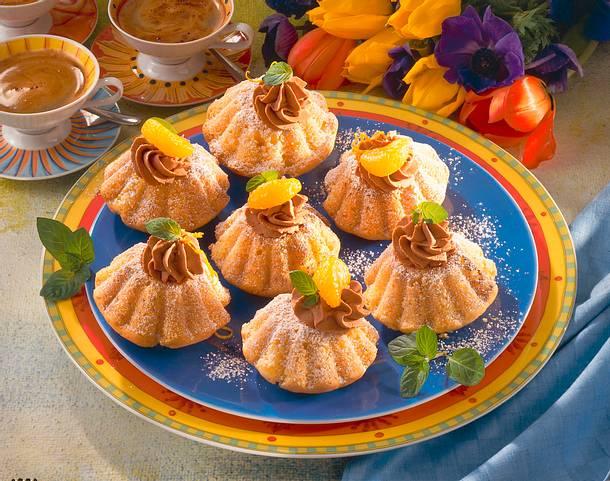 Orangen-Torteletts mit Trüffelsahne Rezept