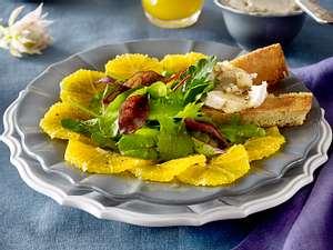 Orangencarpaccio mit Wintersalat Rezept