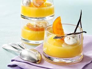 Orangenflammeri mit Vanilleschaum Rezept