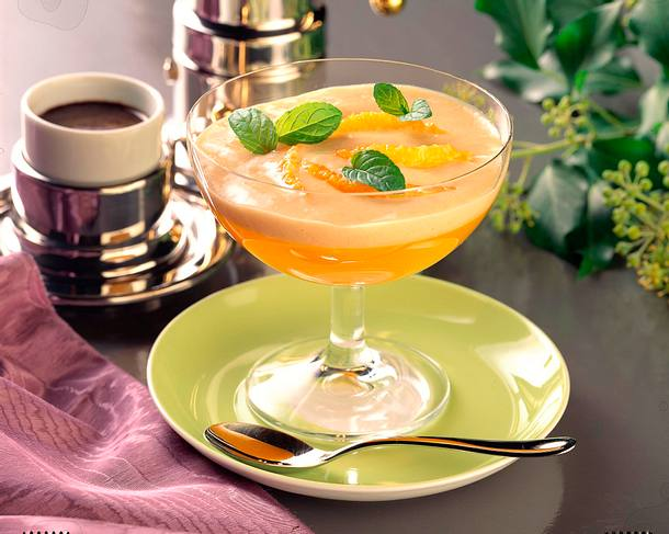 Orangengelee mit Vanille- Zimtsoße Rezept