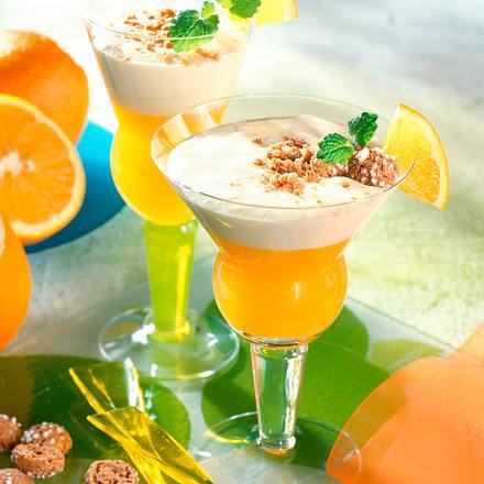 Orangengelee mit weißer Mousse Rezept