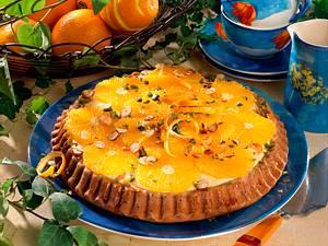 Orangenkuchen mit Moccaboden Rezept