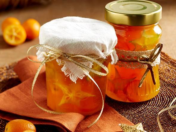 Orangenmarmelade mit Karambole und Kumquats Rezept