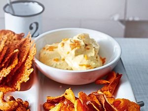 Orangenschalenschmuggel im Honig-Senf-Dip Rezept