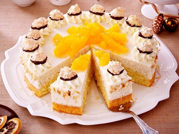 Orangentorte mit Kokoscreme Rezept