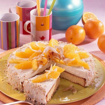 Orangentorte mit Kokosnuss-Sahne Rezept