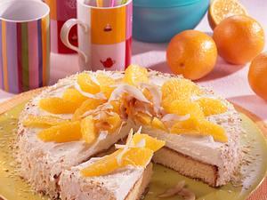 Orangentorte mit Kokosnuss-Sahne (Diabetiker) Rezept