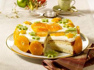 Orangentorte mit Quark-Schmand-Crème Rezept