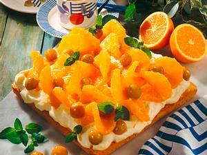 Orangentorte mit Vanille-Mascarpone-Creme Rezept