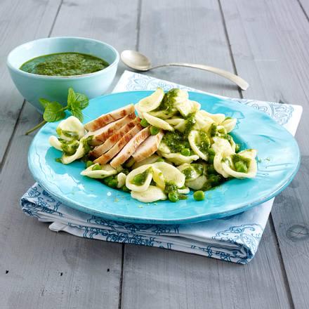 Orecchiette mit Minz-Limetten-Pesto Rezept
