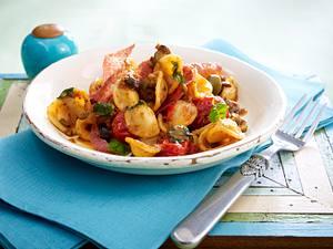 Orecchiette mit Salami und Tomatenpesto Rezept