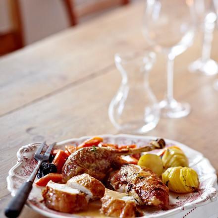 Orientalische Festtagspute mit Fächerkartoffeln Rezept