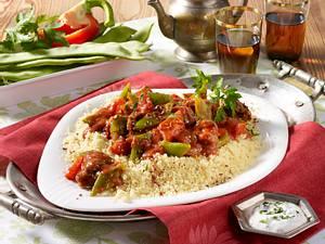 Orientalisches Lammragout mit Bohnen und Couscous Rezept