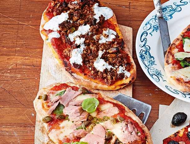 Orientalisches Pizza-Naan-Brot Rezept