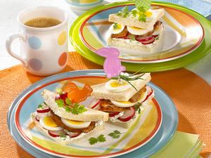 Oster-Sandwich mit Minutensteak & Ei Rezept