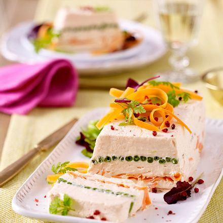 Osterbrunch – Räucherlachs-Gemüse-Terrine Rezept