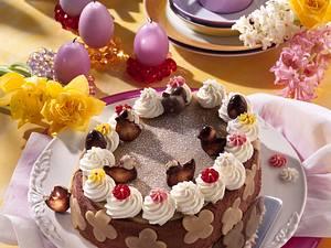 Osterei-Torte mit Trüffelsahne Rezept