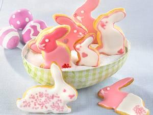 Osterhasen-Kekse in Pink Rezept