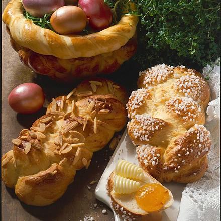 Osterkorb und Hefezöpfe Rezept
