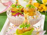 Osterküchlein mit Marzipan-Häschen Rezept