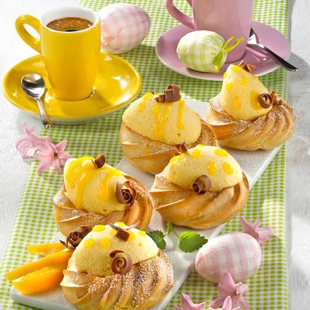 Osternester mit Mango-Mousse Rezept