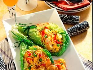 Paella in Chinakohltütchen Rezept