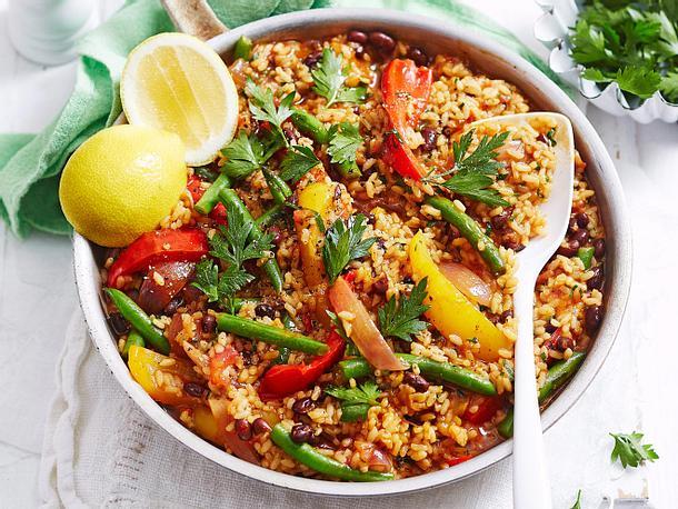 Mini-Abwasch-Paella mit Kidneybohnen Rezept