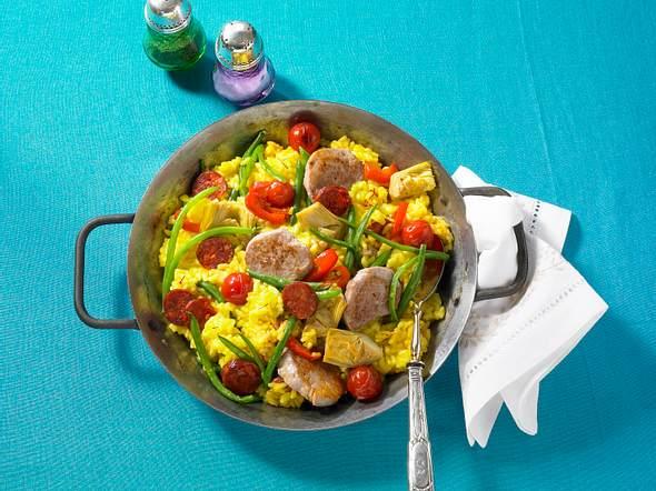 Paella mit Schweinefilet und Chorizo Rezept