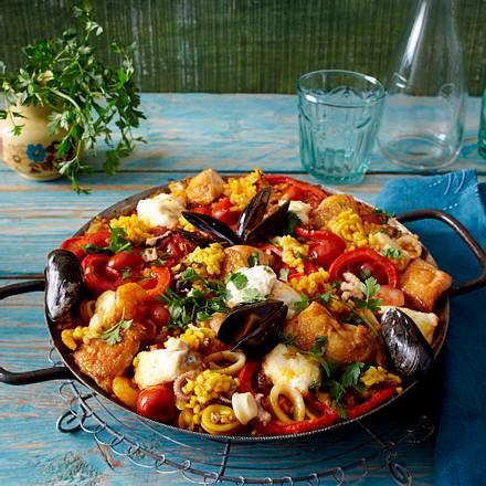 Paella mixta Rezept