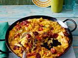 Paellatortilla mit Chorizo Rezept