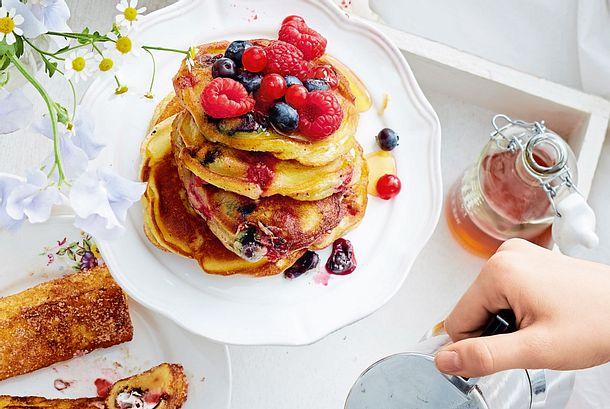 Pancakes mit Beeren Rezept