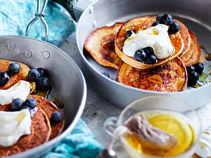 Vanille-Pancakes ohne Mehl Rezept