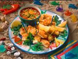 Panierte Fischstücke mit Fruchtketchup Rezept