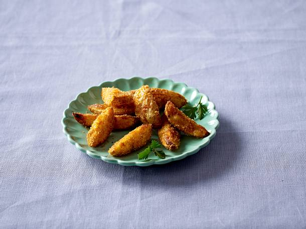 Panierte Kartoffelspalten Rezept
