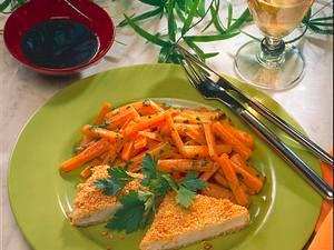 Panierte Tofu mit Möhrengemüse Rezept
