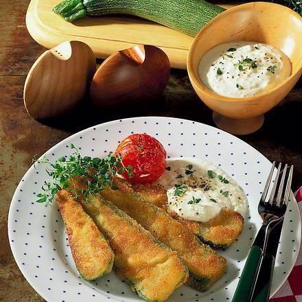 Panierte Zucchinistreifen Rezept