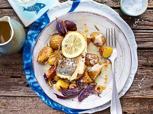 """Pannfisch """"Gruß nach Lisboa"""" in Weißweinsoße Rezept"""