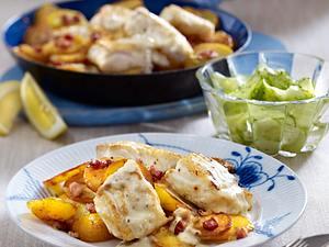 Pannfisch mit Bratkartoffeln und Senfsoße Rezept
