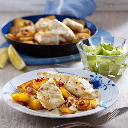 pannfisch mit bratkartoffeln und senfso e rezept chefkoch rezepte auf kochen. Black Bedroom Furniture Sets. Home Design Ideas