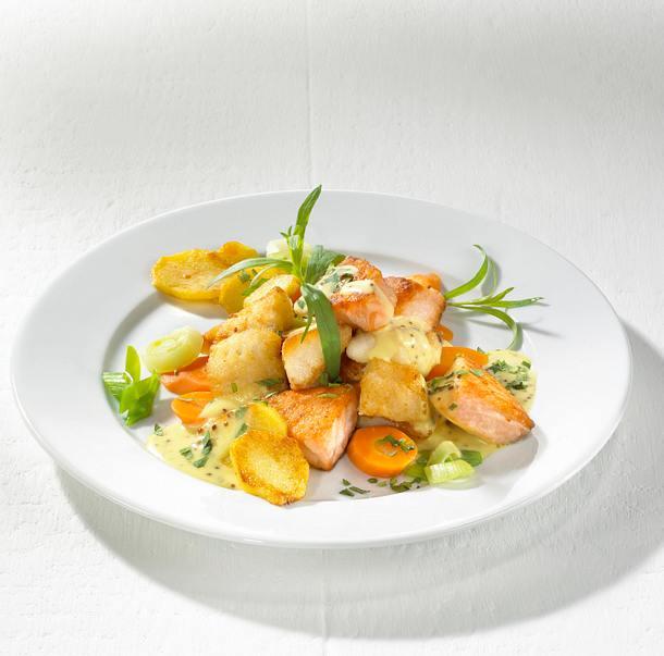 Pannfisch mit Estragonsenfsoße Rezept