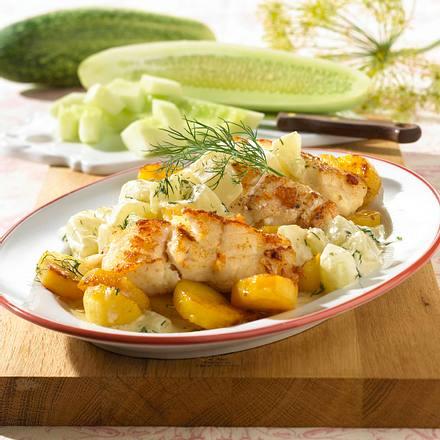 Pannfisch mit Gurke Rezept