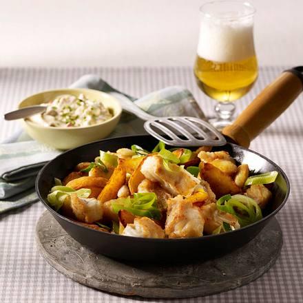 Pannfisch mit Paprika-Remoulade Rezept