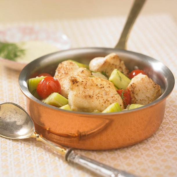 Pannfisch mit Senfjoghurt Rezept
