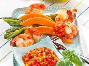 Papaya-Salsa zu Garnelen Rezept