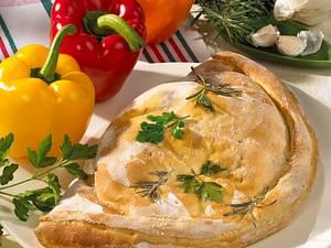 Paprika-Calzone mit Mozzarella Rezept