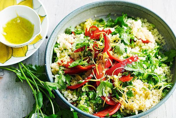 Paprika-Couscous als Turbo-Salat Rezept
