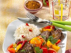 Paprika-Curry mit Beefsteak Rezept